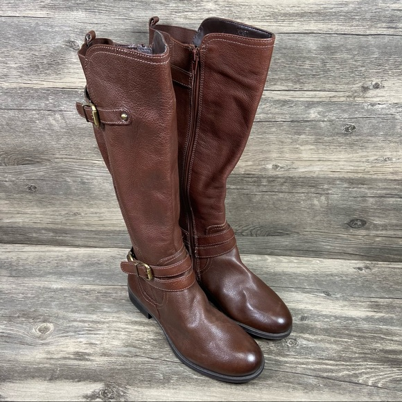 Naturalizer June Knee High Riding Boots Leather